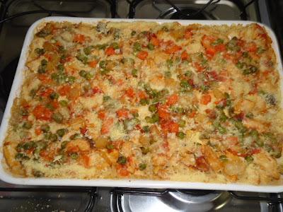 arroz temperado simples com seleta de legumes