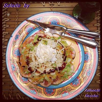 Salada de figo com queijo de cabra