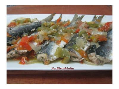 arroz com file de sardinha