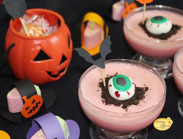 Mousse  Cérebro de Zumbi - Para o halloween