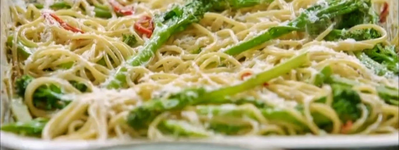 Receitas - Espaguete com Brócolis ao estilo Italiano