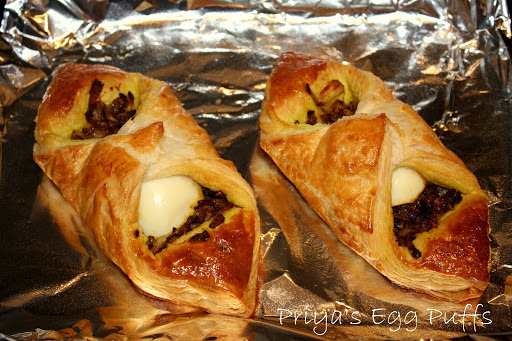 Easy Egg Puffs using read-made puff pastry~ anyone can do this