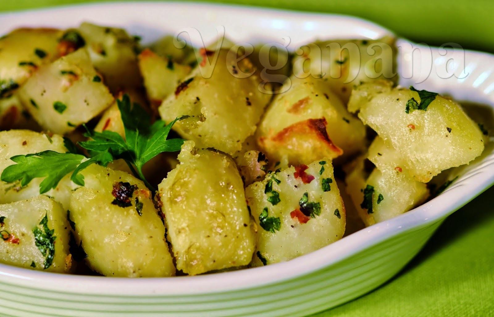 Batatas Assadas com Alho e Ervas