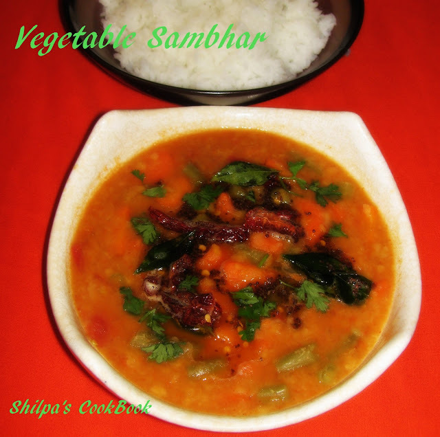 Vegetable Sambhar - A South Indian delicacy/ Vegetable Stew/Chowder
