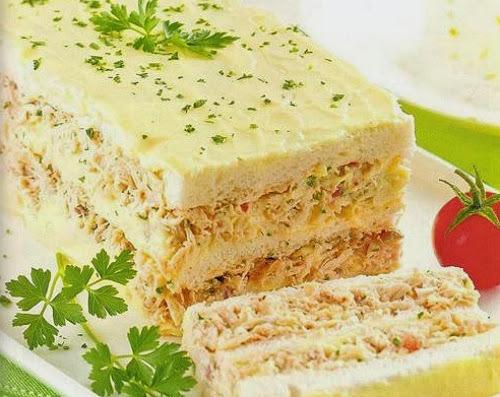 bolo salgado de sardinha com pão de forma