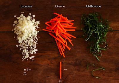 Tipos de Corte de Legumes e Hortaliças