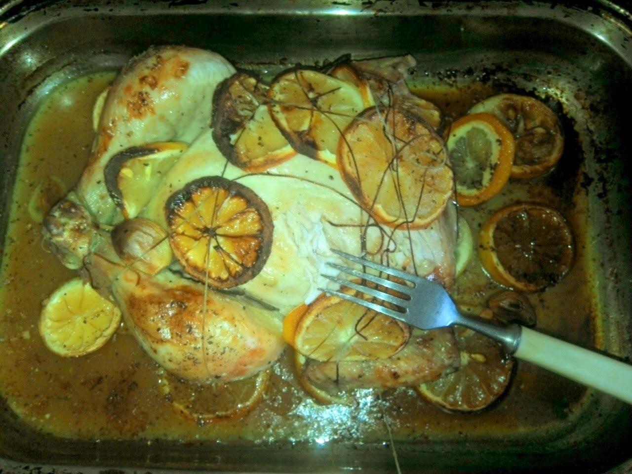 Citrónové pečené kurča
