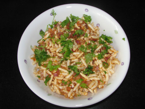 Charmuri Upkari (A Healthy Evening Snack made with Puffed rice)