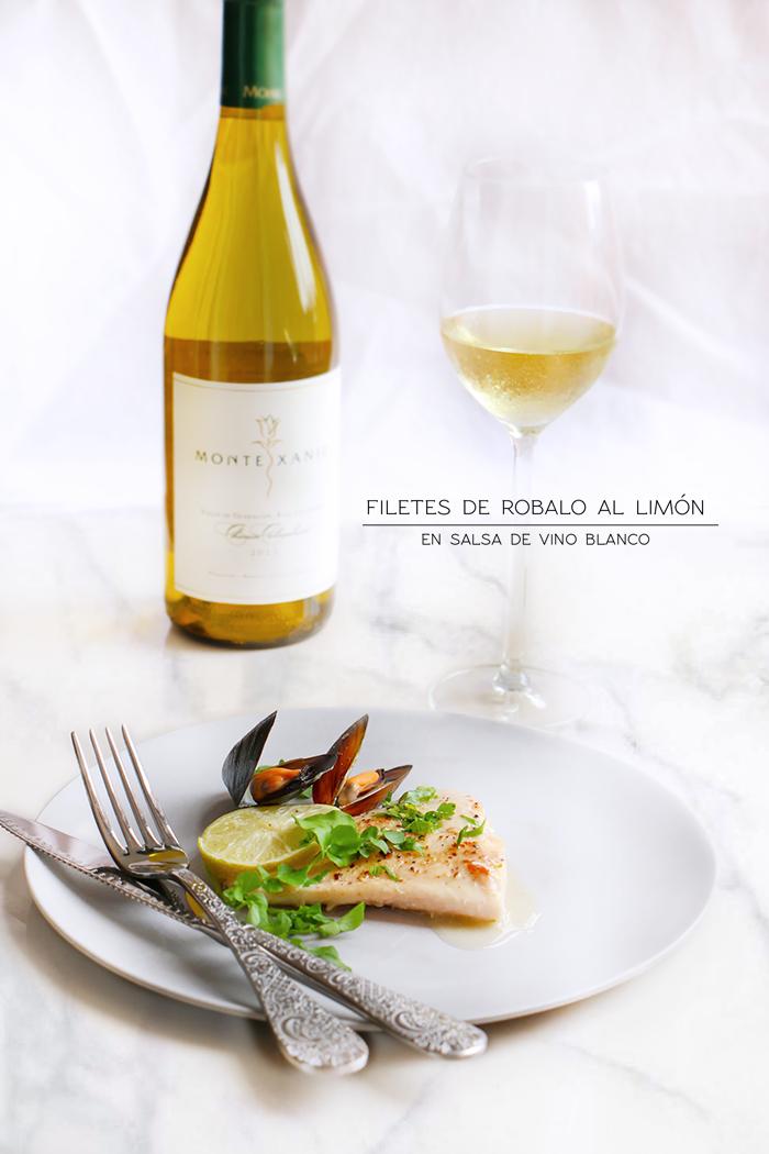 Filetes de Robalo al limon en salsa de vino Blanco