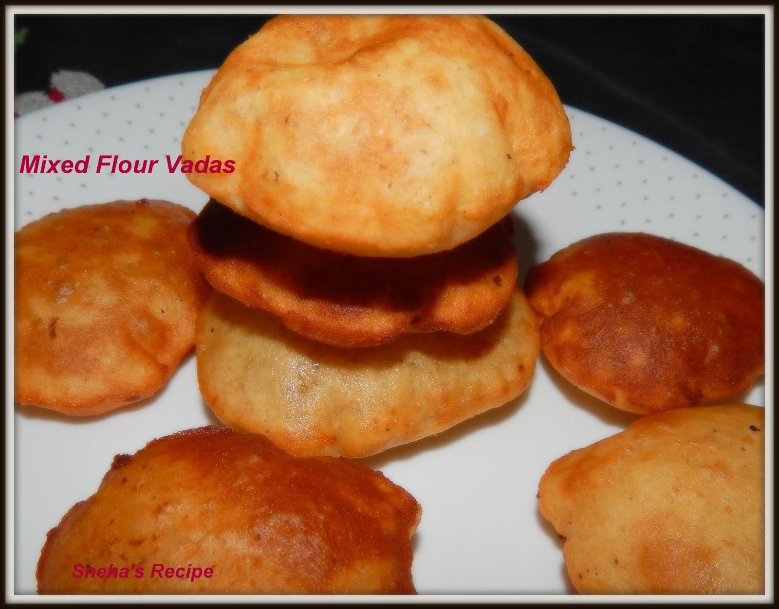 Malwani Vade  -  Maharashtrian  Mixed Flour Puris.