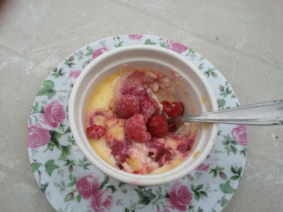 Raspberries Creme Brulée