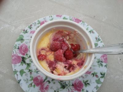 Raspberries Creme Brulée