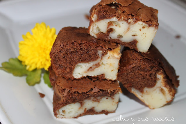 BROWNIE DE CHOCOLATE Y QUESO   SIN GLUTEN