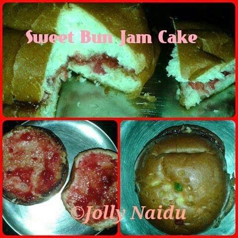 Sweet Bun Jam Cake | Sweet Bun Snacks