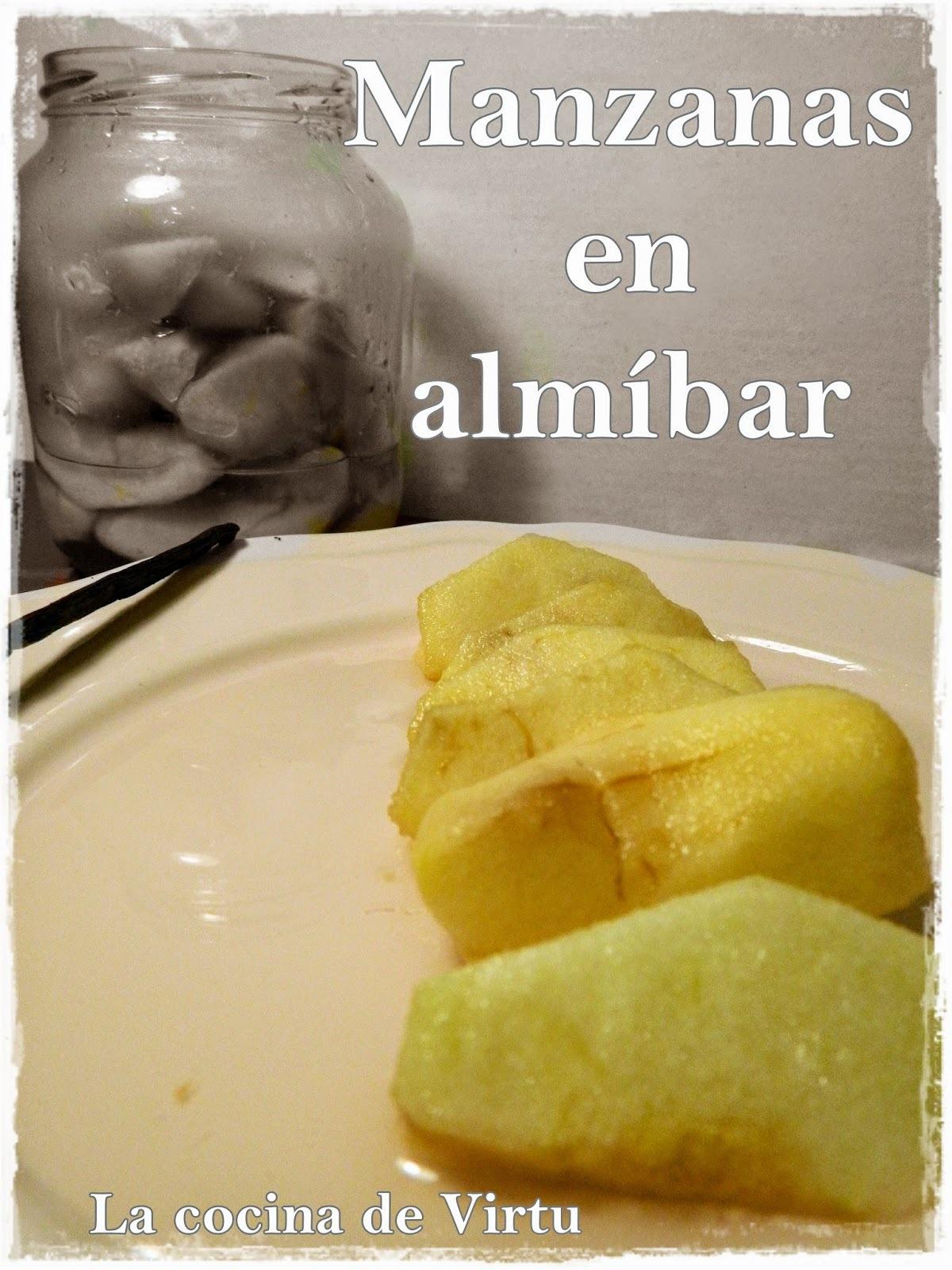 Conserva manzana en almibar al microondas