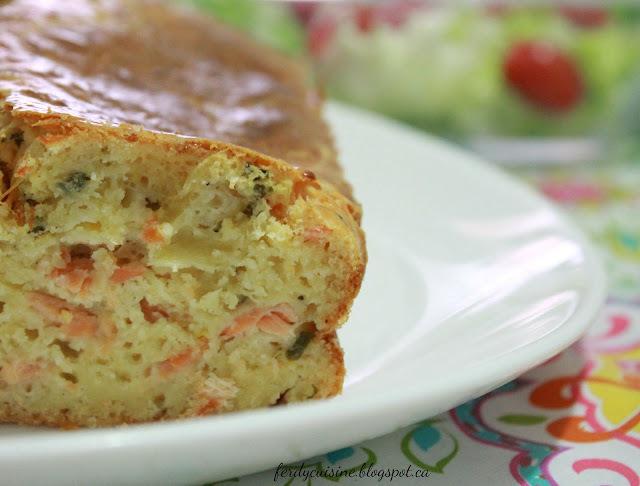 Cake salé au Saumon fumé et au Citron