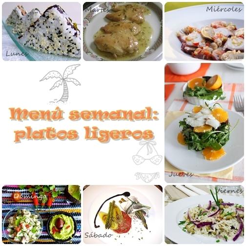 Menú semanal: platos ligeros