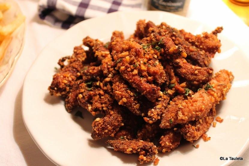 Fingers de pollo rebozados con kikos o frutos secos