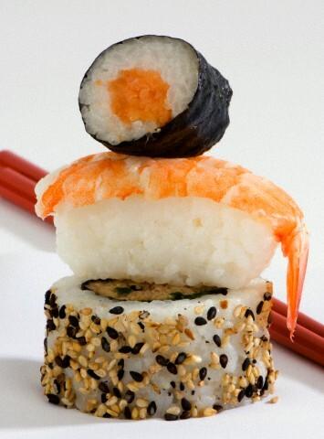 tempura de legumes peixe e camarão