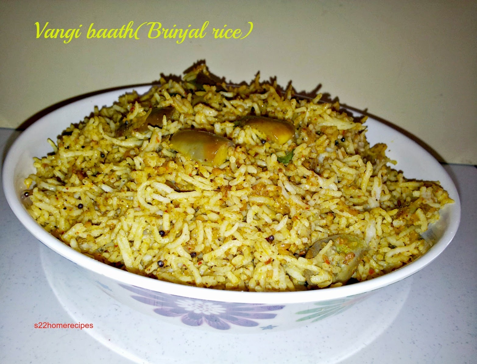 Vangibaath/Brinjal rice