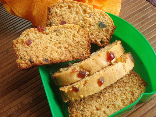 Orange Tutti Frutti Loaf – Eggless