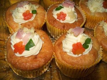 cupcake salgado de frango com queijo