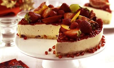 Torta Gelada de Panetone e Frutas - receitas natalinas