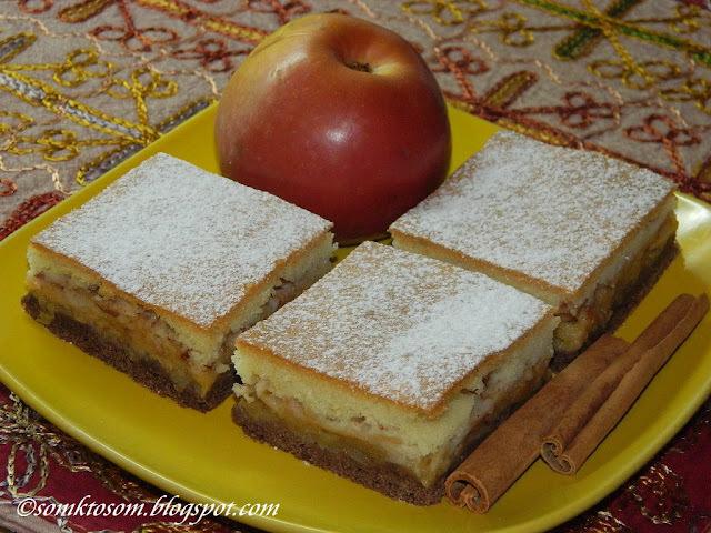 Jablkový koláč s dvojakým cestom
