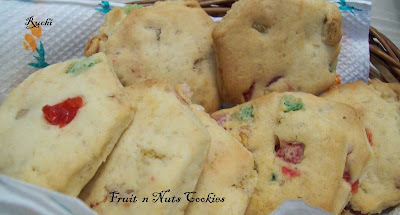 Eggless Fruit n Nuts Cookies