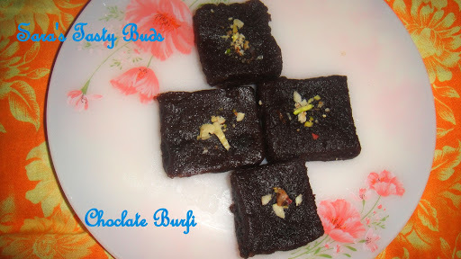 chocolate burfi with maida