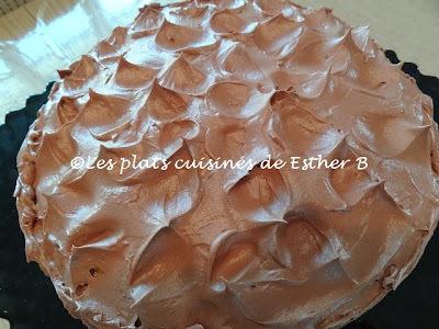 Gâteau au chocolat classique avec glaçage en forme de pics