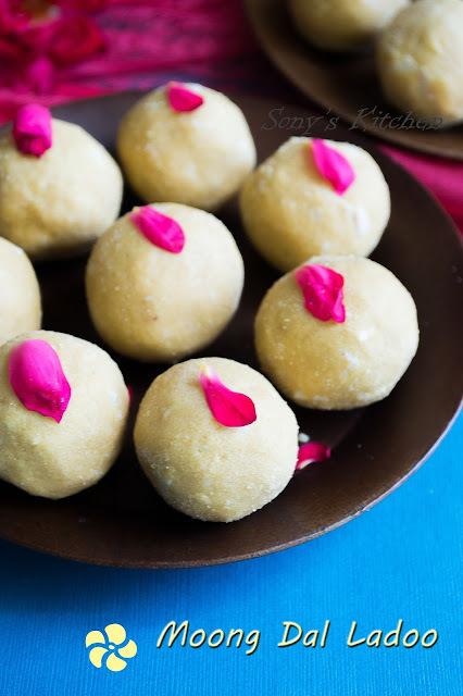 Moong/Mung Dal Ladoo - Easy Diwali Recipes
