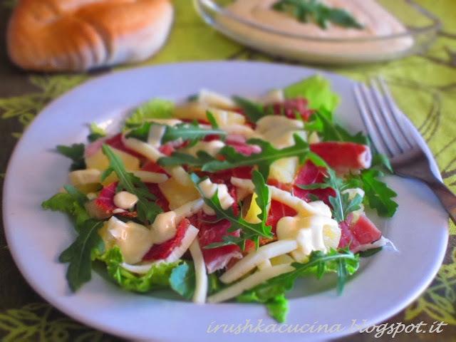 салат с окороком копченым