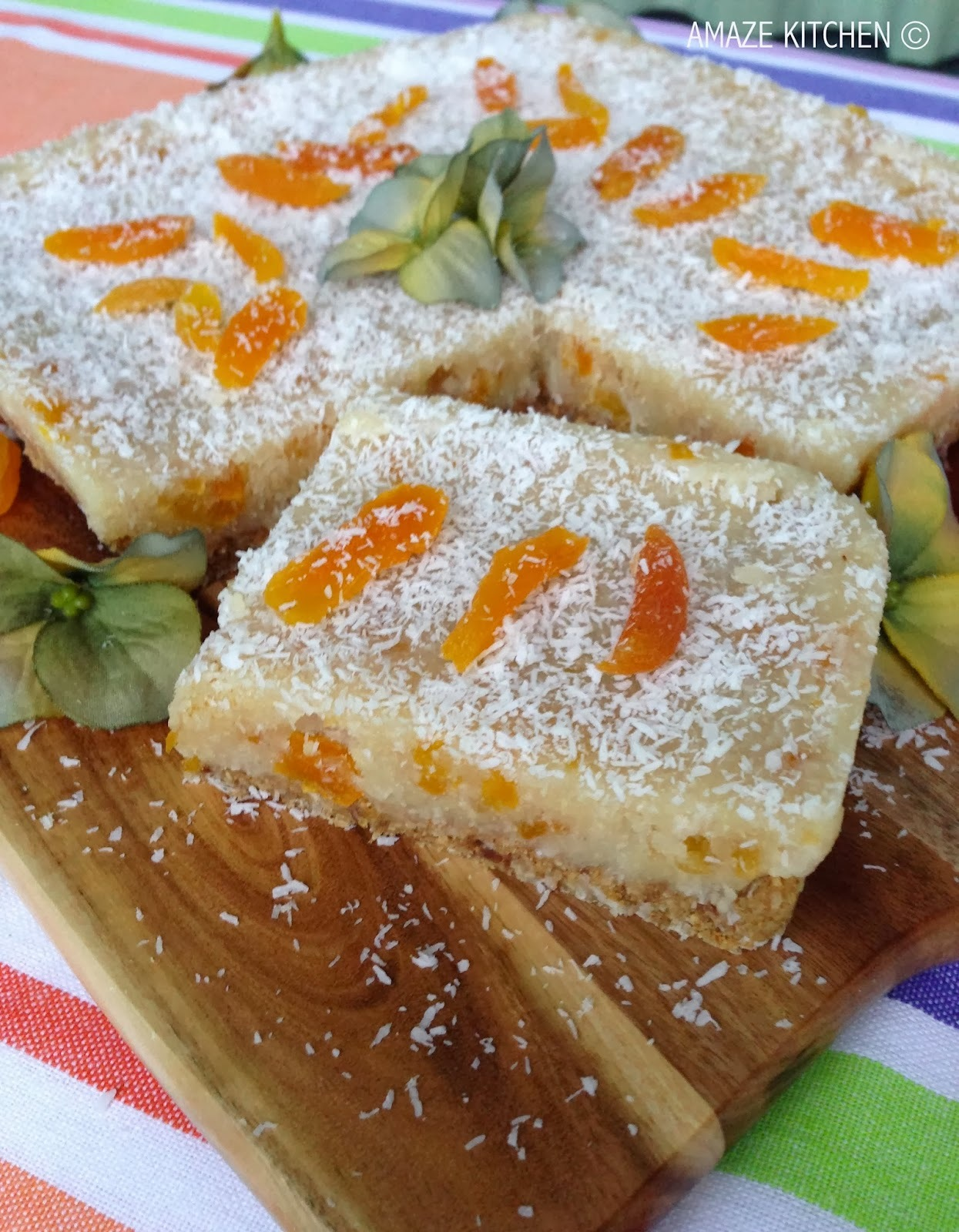 Raw Apricot and Coconut Slice
