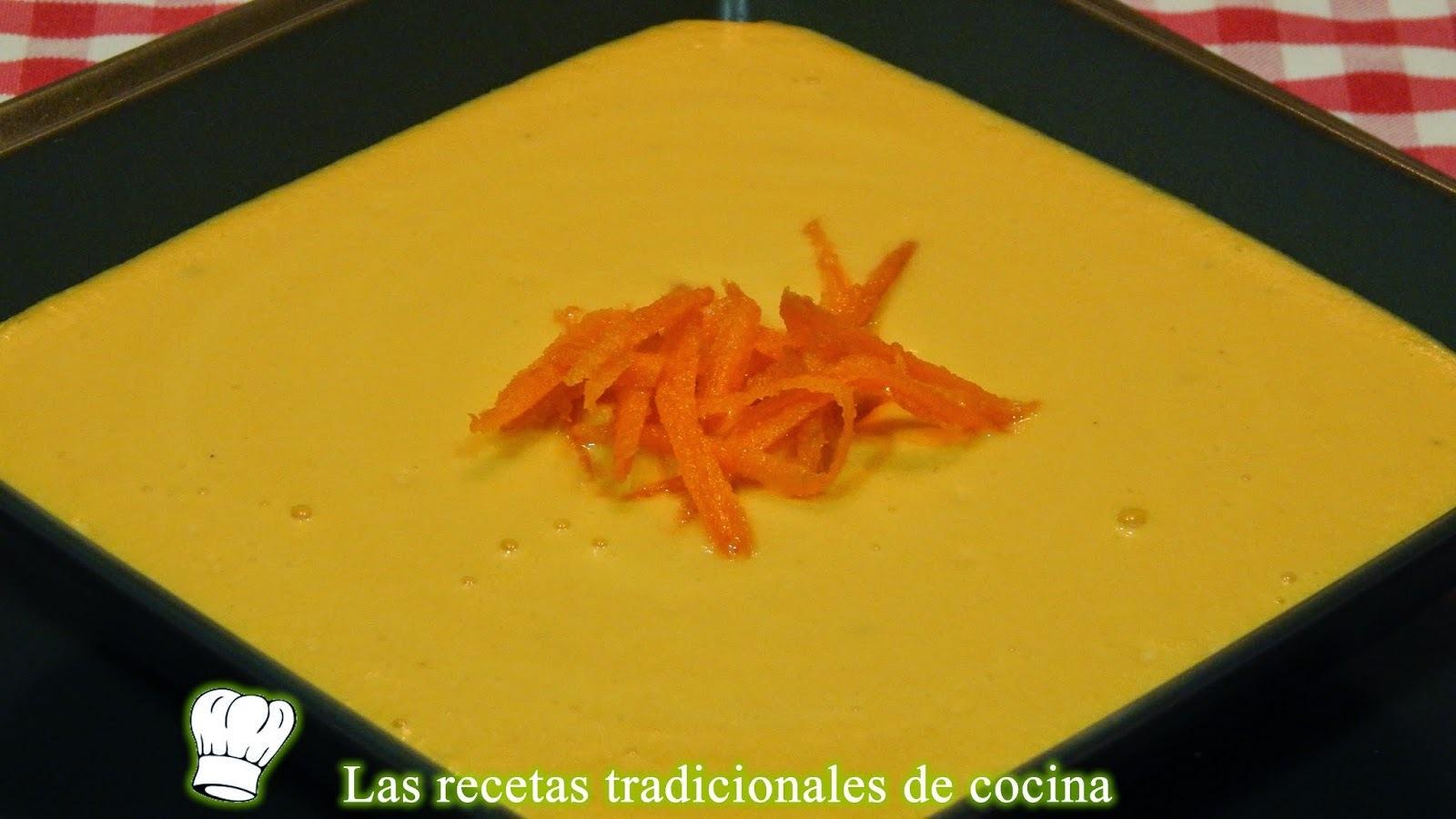 Receta de crema de zanahorias
