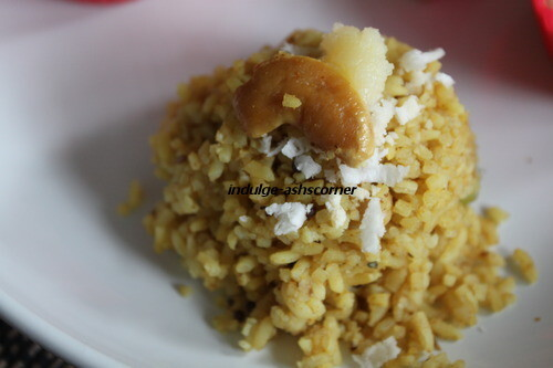 Masale Bhat-- Spiced Rice- maharashtrian delight.