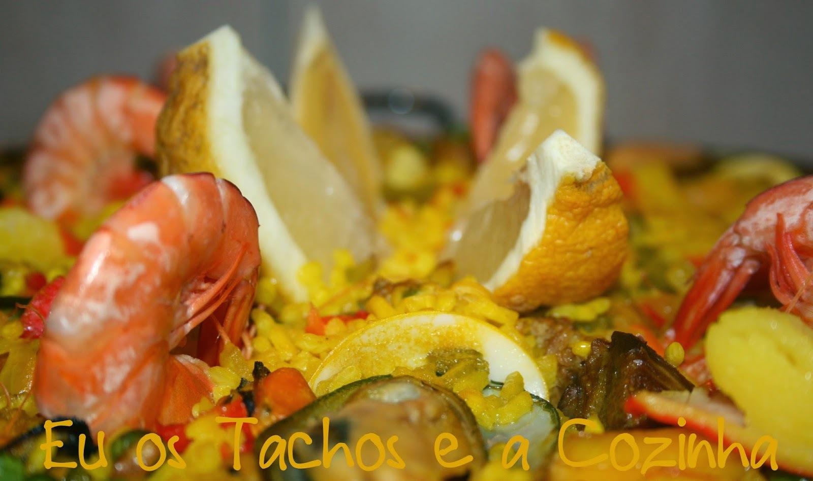 paella com lagostim