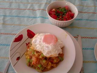 Charquicán con huevo frito