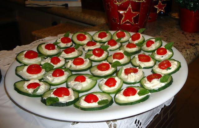Mais aperitivos para o carnaval - Canapés de pepino