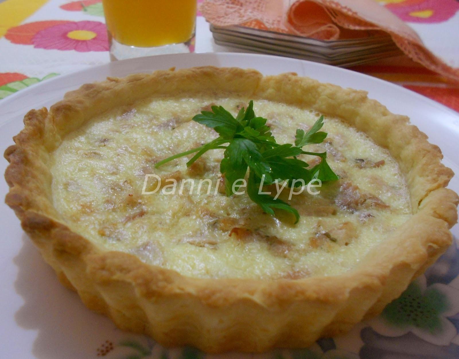 Quiche de Frango com Cream Cheese