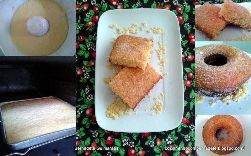 bolo de farinha de milho amarela com polvilho