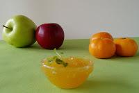 Žele od mandarina i jabuke sa mentom