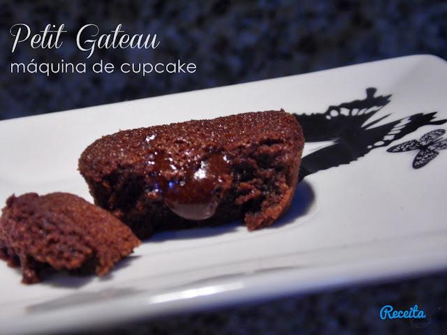 Petit Gateau na máquina de cupcake