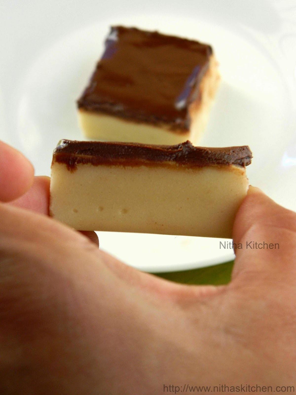 Maida Burfi with Chocolate Glaze | Chocolate Topped Maida Burfi Recipe