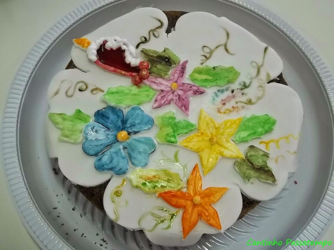 decoração com uvas bolos