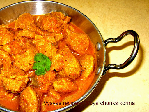 soya chunks gravy for chapati