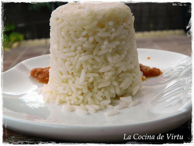 "Arroz a la ""cubana"" de Virtu al Microondas"