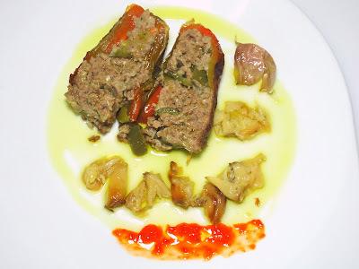 pimentão recheado com carne moida no forno