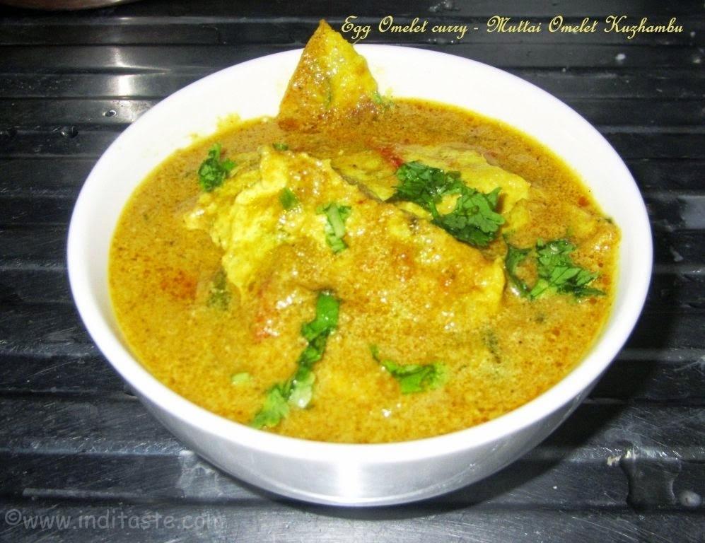 Egg Omelet Curry   Muttai Omelette Kuzhambu