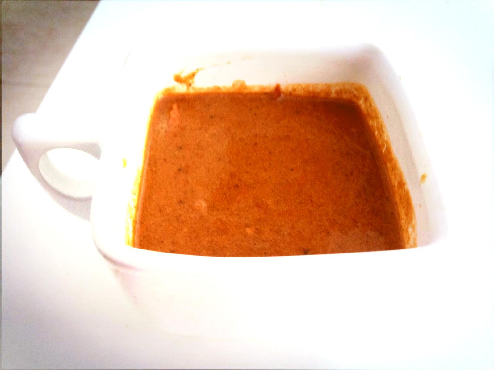 Sopa de tomate tatemado
